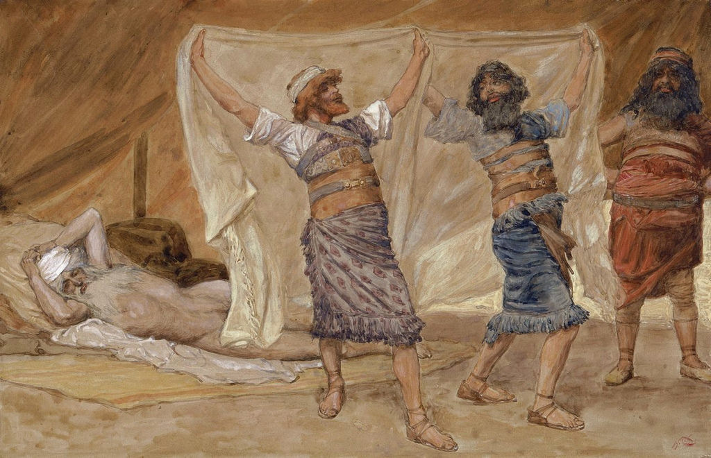 Noah's Drunkenness by Jacques Joseph Tissot, 1836-1902